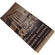 Century of Progress International Exposition Chicago 1933 General Motors Exhibit Pamphlet