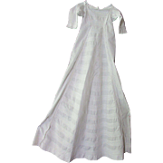 SALE Exceptional Infant or Doll Long White Gown with Original Photo Circa Late 1800's