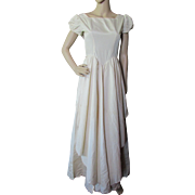 Satin Dance Dress or Wedding Dress in Cream Tone 1940 1950 Style