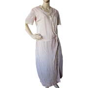Early 20th Century Day Dress in Whisper of Pink Tissue and Lace