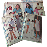 SALE Four Patterns McCall's Marlo's Corner Marlo Thomas That Girl 1970's Unused
