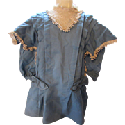 SALE Victorian Era Child's Coat in French Blue with Lace Accents