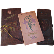 SALE Trio Vintage Contract Bridge Tally Sheets and Tags