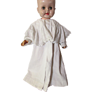 SALE Victorian Edwardian Child's White Cord Coat with Lace Collar for Infant of Large Doll