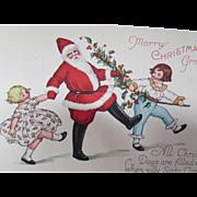 Santa Christmas Holiday Post Card 1929