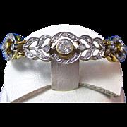 SALE Fabulous Diamond Art Deco Vintage Bracelet 14K