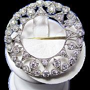 SALE Ravishing 2.85 Diamond Edwardian Downton Abbey Pendant/Pin/Brooch Platinum