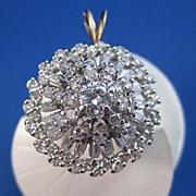 SALE Sizzling 2.91 Diamond Vintage Pendant 14K