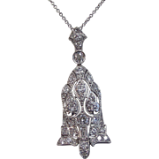 SALE Magnificent Diamond Art Deco Vintage Wedding Pendant Platinum