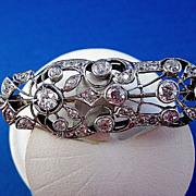 SALE Breathtaking 2.63 Old Mine Cut Diamond Vintage Brooch/Pendant