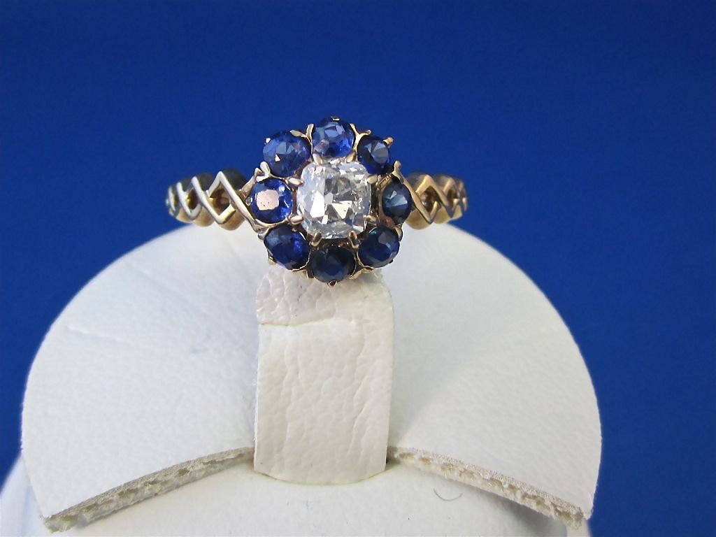 Httpsghiroph Comca Fashion Darling: Wonderful Sapphire Diamond Victorian Antique Ring 14K From