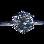 SALE Amazing Aquamarine Vintage Ring 14K