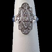 SALE Fascinating Diamond Art Deco Filigree Vintage Ring Platinum
