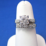 SALE Magnificent Diamond Engagement Ring Wedding Set 14K