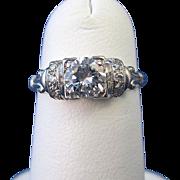 SALE Gorgeous Diamond Art Deco Platinum Engagement Ring