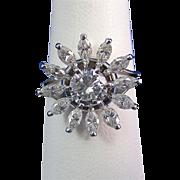SALE Extraordinary 1.98 Jabel Diamond Vintage Ring 18K