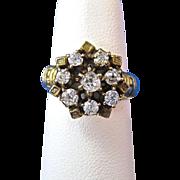 SALE Gorgeous  Old European Cut Diamond Antique Victorian Engagement Ring 14K