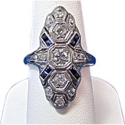 SALE Romantic Diamond Antique Edwardian Ring Platinum