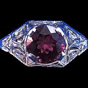 SALE Outstanding Natural Pink Tourmaline & Diamond Art Deco Vintage Engagement Ring 14K