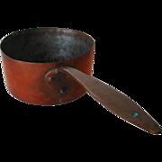 4 Qt. Antique Copper Saucepan, c1850