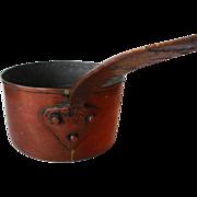 8 Qt. Antique Copper Saucepan, c1850