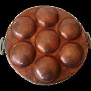 Antique Copper Egg Poacher, c1890