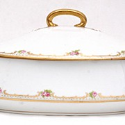 "Limoges ""Old Abbey"" Covered Tureen, c1910"