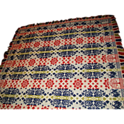 1834 Jacquard Coverlet