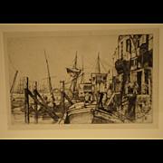 James Abbott McNeill Whistler 1859 Limehouse Etching