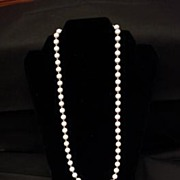 Monet White and Gold Tone Bead Necklace