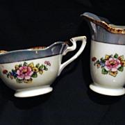 REDUCED Noritake Lusterware like Creamer and Sugar 1918 - 1940