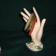 Set of 3 Lucite Molded Bangle Bracelets