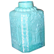 SOLD C.1860 Molded Opaline Russian Tea Caddy - Rare - Documented