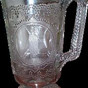 EAPG - Minerva (Roman Medallion) Water Pitcher - C 1870