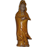 SALE Rare signed Kutani Kuan Yin/Guan Yin  Figurine