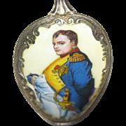 Napoleon Enameled Figural Spoon - 800 Silver