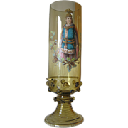 Tall Harrach Hand Painted Vase by Josef  Pfohl.