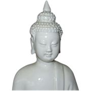 Blanc de Chine Buddha with Pearl in His Right Hand.