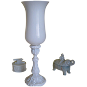Vallerysthal Tall Glass Shade Candleholder - (Candlestick with Glass Shade)