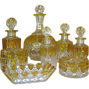 SALE Gorgeous 15 Pieces Val St. Lambert Vanity Set  - C 1900
