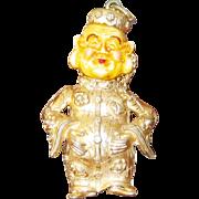 SALE Signed Napier/Buddha  Oriental (Ming Man) Gold Tone Pendant - Book Piece
