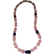 SALE Rose Quartz-Amethyst- Jade Necklace