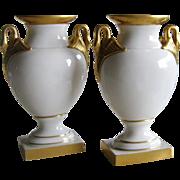 Lenox Swan Handle Vases - Blue Mark - 1930's