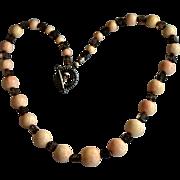 REDUCED Sponge Coral Jumbo Bead Necklace Moss Quartz Necklace