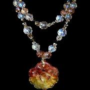 REDUCED Carved Jadeite Bat Amulet Necklace  Good Fortune
