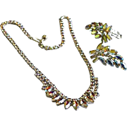 REDUCED Arora Borelias Faceted Rhinestone Necklace & Earrings by B.DAVID