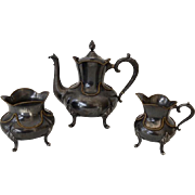 REDUCED Smith, Hall, Miller & Co Quadruple Plate Silver Victorian Tea Set