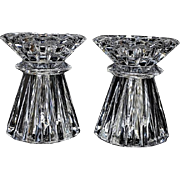 SALE Waterford Marquis Lead Crystal Candleholders / Votives