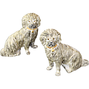 REDUCED Pair Staffordshire Ware Kent Porcelain Dogs