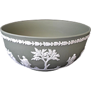 REDUCED Wedgewood Bisque Jasperware Bowl Classic Greek Style Decorative Appliqué